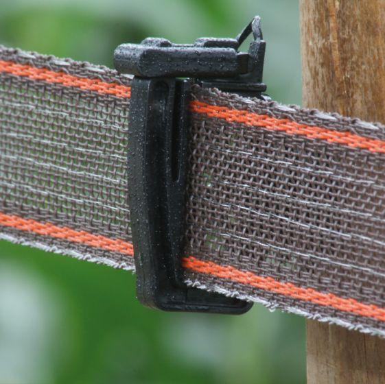 versterkt 40mm lint bruin (400mtr)
