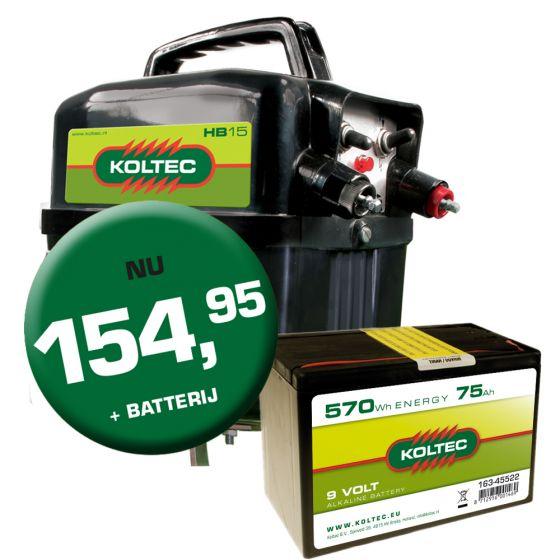 Batterijapp. KOLTEC HB15