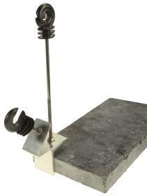 Vijverrandklem inclusief isolatoren (4st)