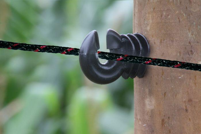 6mm braided koord zwart (200mtr)